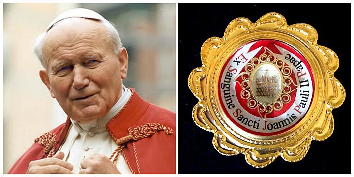 Blutreliquie von Papst Johannes Paul II